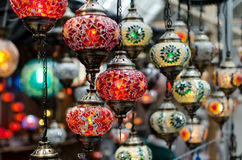 Glass lanterns 3 stock image