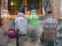 Glass lanterns Stock Images