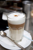 Glass of latte coffee Royalty Free Stock Photography
