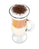 Glass of Latte coffee Stock Image