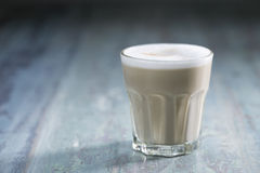 Glass of Latte Coffee Stock Photography