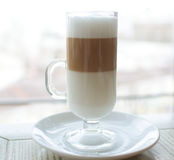 Glass of latte Stock Photography
