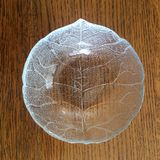Glass Leaf Bowl Royalty Free Stock Photo