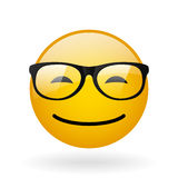 Glass leende för vektor Arkivbild