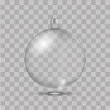 Glass leksak för jul på genomskinlig bakgrund vektor Royaltyfri Fotografi
