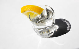 A glass with lemon Stock Images