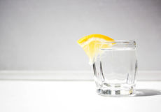 A glass with lemon Royalty Free Stock Photo