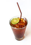 Glass of Lemon ice tea Royalty Free Stock Images