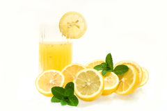 Glass With Lemon Juice Royalty Free Stock Photo