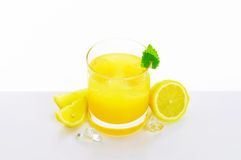 Glass of lemon juice drink Royalty Free Stock Photo
