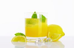 Glass of lemon juice drink Stock Image