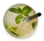 Glass of lemon soda drink Royalty Free Stock Photography
