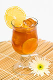 Glass Of Lemon Tea Stock Photography