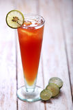 A glass of lemon tea Stock Photography