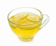 Glass of lemon tea on white background Stock Photography
