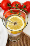 Glass Of Lemon Water Stock Photos