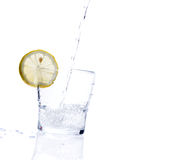 Glass of lemonade Stock Photos