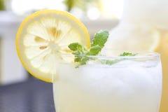 Glass of lemonade. Closeup of a glass of lemonade Stock Image