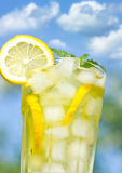 Glass with lemonade Royalty Free Stock Photos