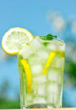 Glass with lemonade Stock Photography