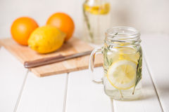 Glass of lemonade Royalty Free Stock Photography