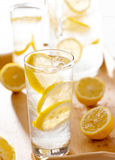 Glass of lemonade closeup Stock Photo