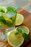 Glass with lemonade Stock Images