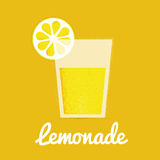 Glass of lemonade with drinking straw Royalty Free Stock Photos