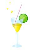 Glass with lemonade a kiwifruit Royalty Free Stock Photo