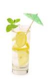 Glass of lemonade with lemon and mint. Stock Photo