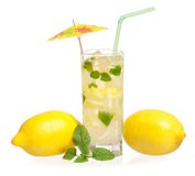 Glass of lemonade Stock Photography