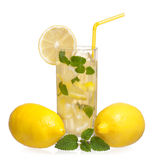 Glass of lemonade Stock Image