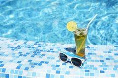 Glass of lemonade or mojito Stock Photo