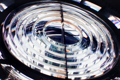 Glass lens of the lighthouse Stock Images