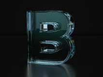 Glass letter B Royalty Free Stock Image