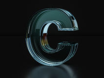Glass letter C Stock Photography