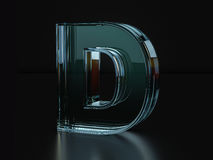 Glass letter D Royalty Free Stock Images