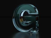 Glass letter G Stock Image