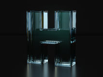 Glass letter H Stock Image