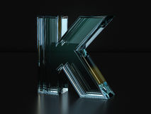 Glass letter K Stock Photo