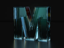 Glass letter M Stock Images