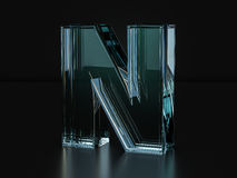 Glass letter N Stock Images