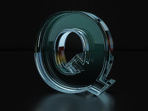Glass letter Q Royalty Free Stock Images