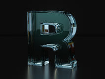 Glass letter R Stock Image