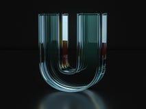 Glass letter U Stock Image