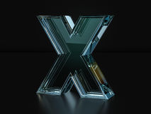 Glass letter X Royalty Free Stock Image