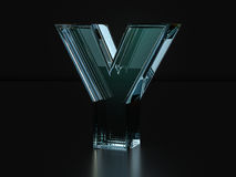 Glass letter Y Stock Photography
