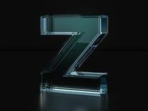 Glass letter Z Royalty Free Stock Photography