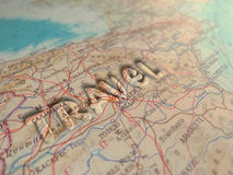 The glass letters on the map - Travel Stock Images