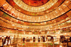 Glass levels of popular shopping mall Galerie Lafayette Royalty Free Stock Photos